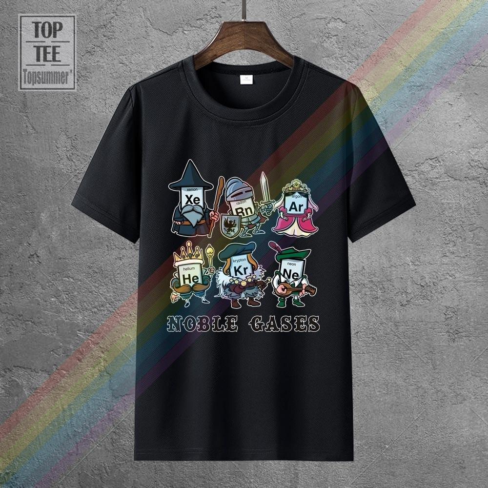 Свойства благородных газов футболка новинки Милая футболка Kawaii Забавный классный топ Harajuku футболки с персонажами из аниме, крутые футболки