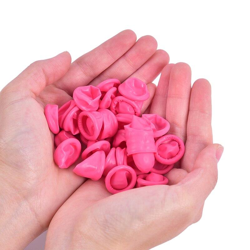 30 قطعة المتاح المطاط اللاتكس إصبع مكافحة ساكنة أصابع حامي قفازات للطبخ المطبخ تنظيف جديد