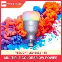 Yeelight     ampoule LED intelligente sans fil 1SE E27 6W RGB  commande vocale  lumiere coloree  compatible Google Home  fonctionne avec lapplication Mija  nouvelle version