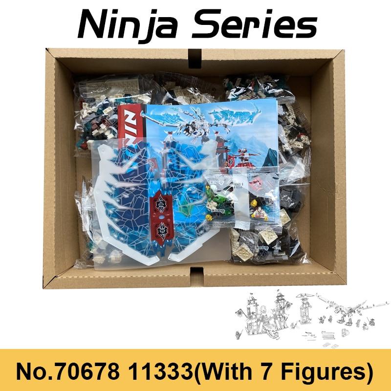 blocos de construcao do castelo ninja gelo dragao imperador blocos de rolagem de