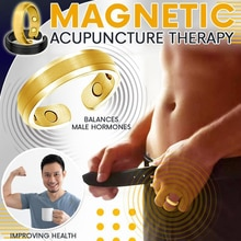 Energy Magnetic Tourmaline Ring Health Care Jewelry For Man Women Ring Bangle Slimming Product Magne
