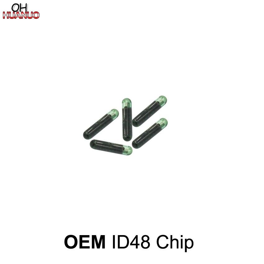 5 unids/lote, ¡alta calidad! Original OEM ID48 chip de cristal Auto transpondedor coche chip de llave virgen