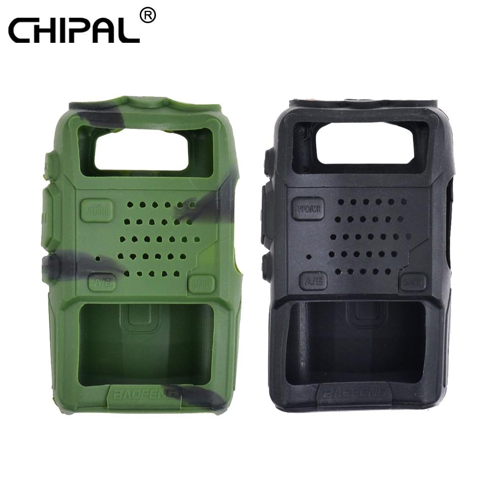 CHIPAL Silikon Handheld Abdeckung Shell UV5R 5RA 5RB 5RC 5RD TYT F8 Für Baofeng Walkie Talkie Wasserdicht Weiche Fall Holster