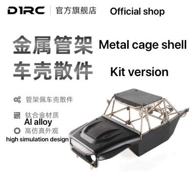 D1RC 2020 Rock metal coche trepador de control remoto 1/10 Aleación de Ti kit de carrocería del coche versión