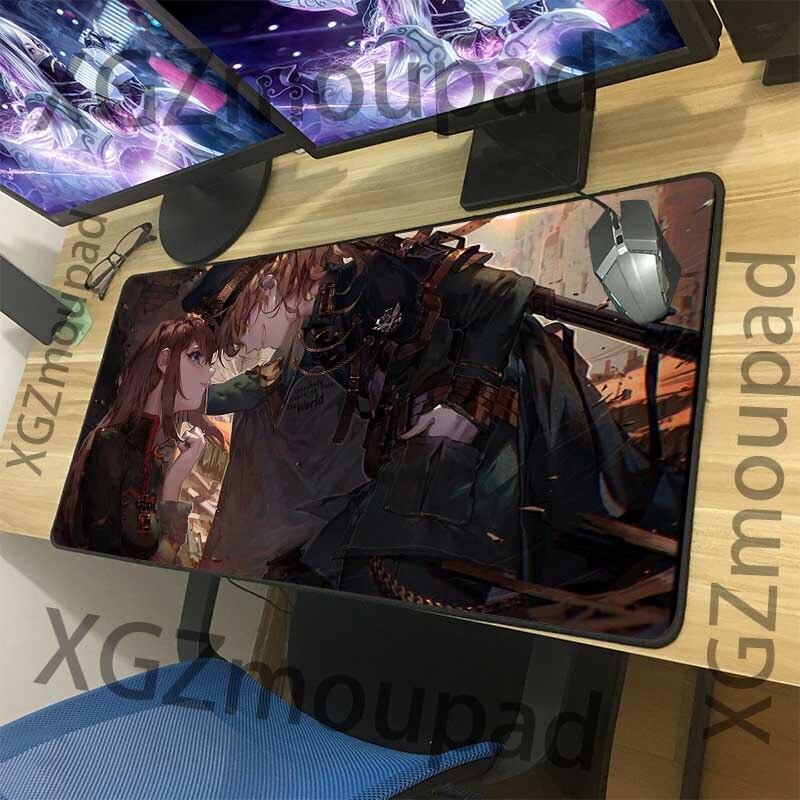 Alfombrilla de ratón grande XGZ, almohadilla de animación ratón de costura negra de precisión, teclado de ordenador, alfombrilla de escritorio de juego personalizada, alfombrilla de goma antideslizante Xx