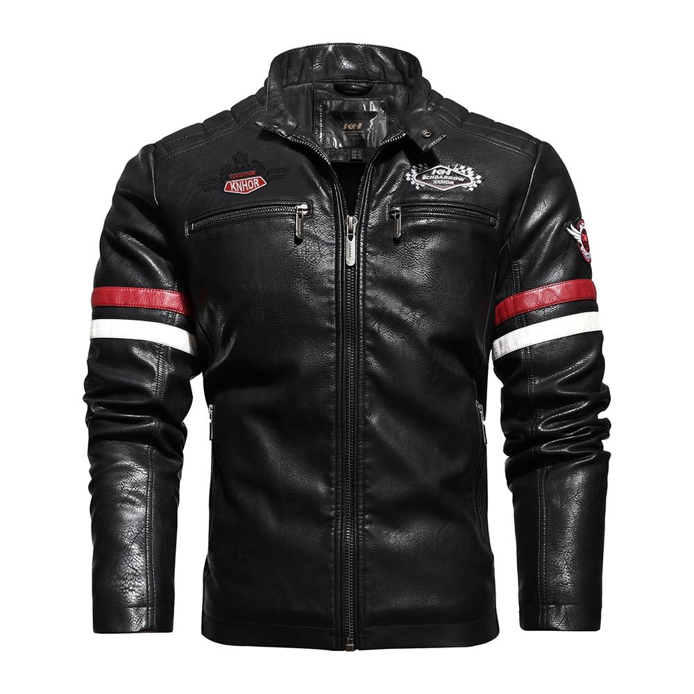 Real Leather Jacket Cool Fashion Men's Natural Motorcycle Hip Hop Biker Coat Men Winter Warm High Quality Genuine Leather Jacket