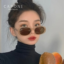 CAPONI Vintage Sun Glasses For Women Fashion 2021 New Style Girl's Shades Trendy Style Square Round