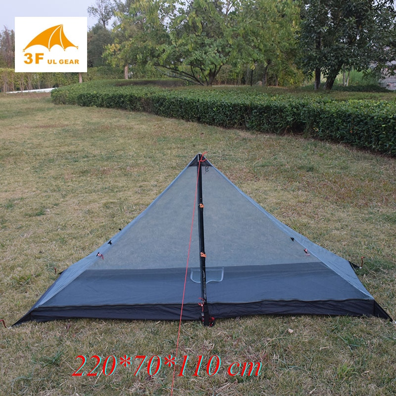 340 grams 3 seasons T doors design strut corner Ultra-light  outdoor camping tent fit most pyramid tent