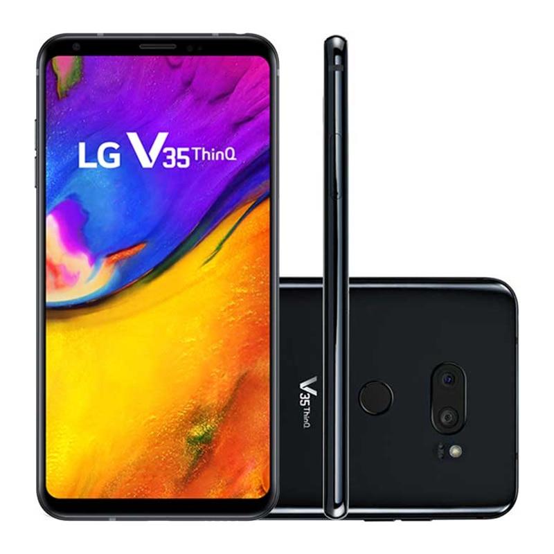Фото3 - Смартфон LG V35 ThinQ V350N V350AWM, разблокированный, мобильный телефон, экран 6,0 дюйма, 6 ГБ ОЗУ 64 Гб ПЗУ, Восьмиядерный 16 Мп, сканер отпечатков пальцев, ...