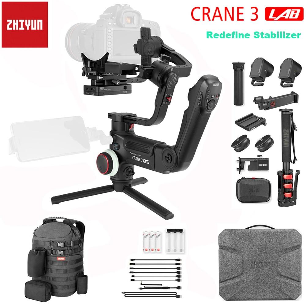 Zhiyun Crane 3 LAB 3-Axis Handheld Gimbal estabilizador inalámbrico 1080P FHD transmisión de imagen para Canon 5D 6D y otras cámaras DSLR