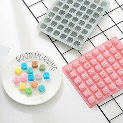 Molde de silicone letra do alfabeto bandejas cubo de gelo bolo de chocolate molde de bolo diy fondant ferramentas de decoração bakeware ferramentas de bolo