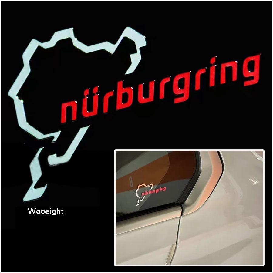 Wooeight 2x cromado Nurburgring deporte de Motor pegatina de emblema para coche diseño Universal para BMW HONDA VW BENZ calcomanía Logo Accesorios
