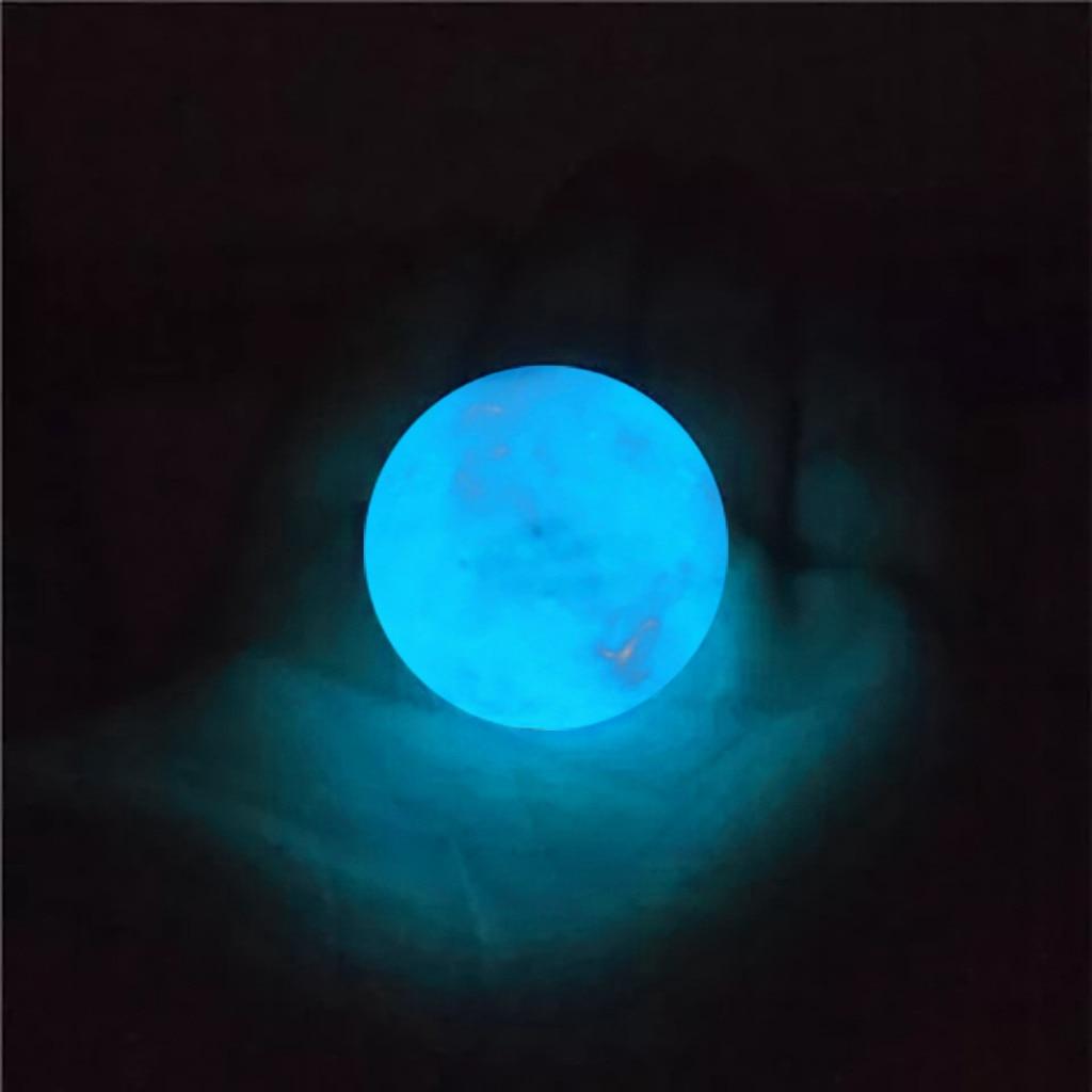 35Mm Blauw Lichtgevende Quartz Crystal Bol Glow In The Dark Stone Gloeiende Steen Voor Kerst Halloween Accessoires #35