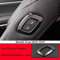 for toyota camry 2018 2019 copilot seat adjustment switch button panel cover trim stainless steel decoration sticker accessories