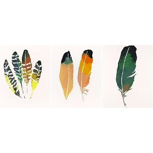 Масляная краска по номерам, пейзаж, перо, оперение/3 шт. DIY Краска по номерам на холсте, домашний декор, Безрамная цифровая краска