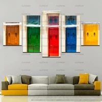 home wall decoration painting colorful door art still life poster decoration in bedroom living room canvas painting hd print