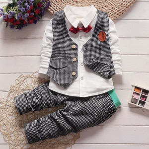 New Children's 1-4 Years Old Spring and Autumn Suit Boys Long-sleeved Two-piece Suit Jacket kids boutique clothing wholesale