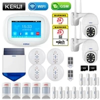KERUI K52 maison intelligente WIFI GSM systeme dalarme Anti-animal de compagnie detecteur APP controle sirene solaire fumee securite sans fil Buglar camera IP