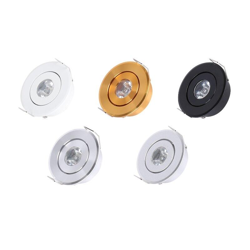 Mini lámpara de luz LED de techo negro 3W LED downlight Tamaño del agujero 40-45mm gabinete empotrado panel de luz led con controlador led