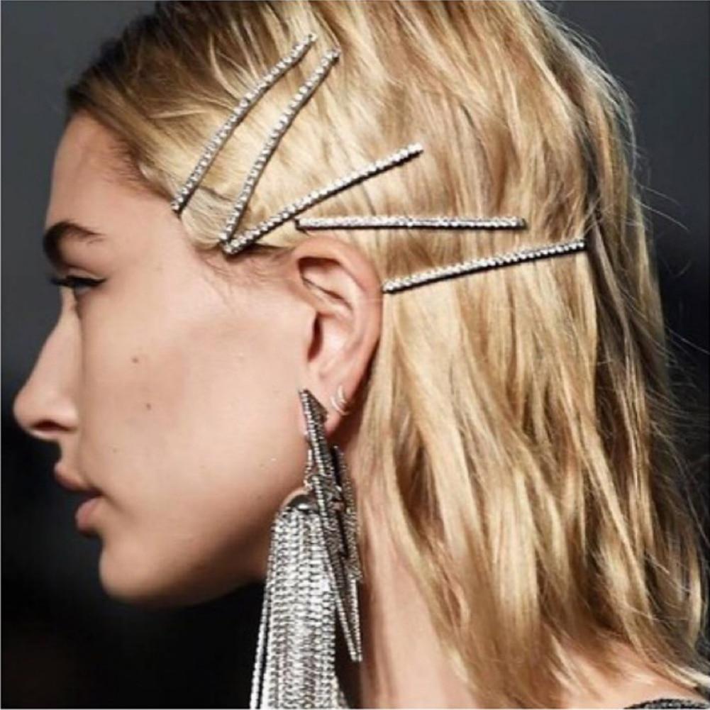 Moda cristal hairpin brilhante strass glam drippin sorte letras cabelo barrette grampos de cabelo hairpin acessórios de estilo de cabelo