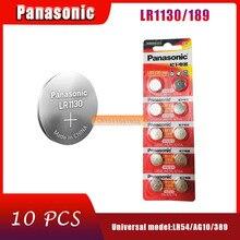 10PCS 100% Genuine großhandel PANASONIC LR54 189 AG10 L1131 SR1130 G10 V10GA 389 Alkalische Schaltfläche Cell-münze Batterie