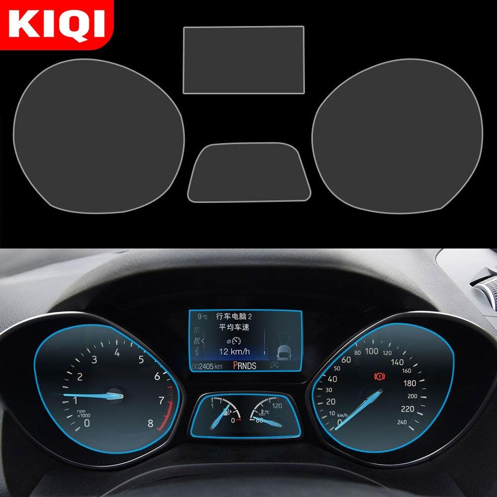 Monitor de painel do carro protetor de tela filme capa adesivo para ford kuga escape 2014-2018 estilo do carro acessórios interiores