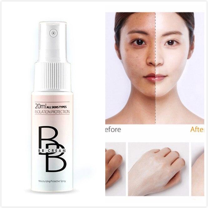 Spray de protección solar portátil para blanqueamiento, crema Hidratante Corporal, crema Base BB, maquillaje TSLM2, 20ML