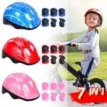 7in1 Kids Helmet Bike Helmet Childrens Protective Gear Boys Girls Cycling Riding Helmet Kids Bicycle casco ciclismo & Knee Pads