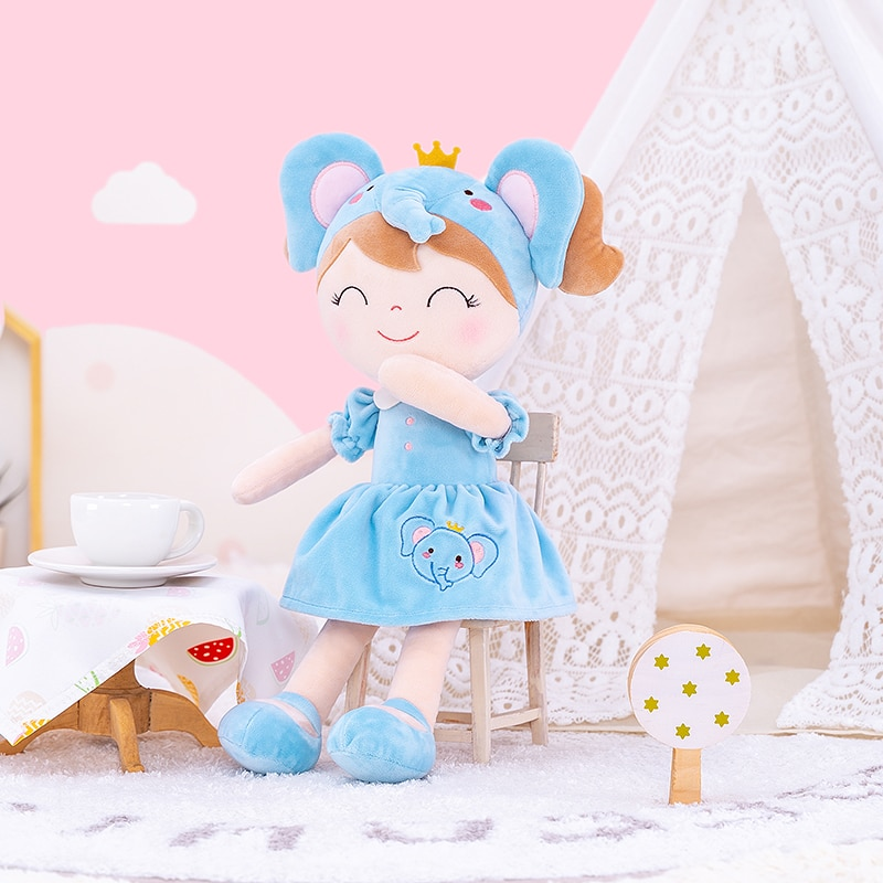Pre-sale Gloveleya Stuffed Animal Dolls Spring Girls Forest Animal Doll Soft Plush Elephant Toy Baby