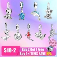 new 925 sterling silver openwork ocean animal charm beads fit bracelet diy jewelry valentine day gift