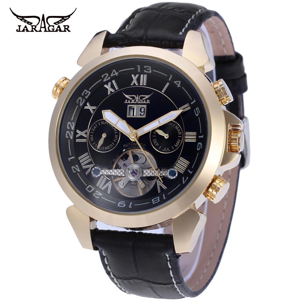 Moda Casual Relógio Masculino Oco Mecânico Automático Jargar057