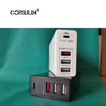 Chargeur rapide Corsulin 100W 65W GaN avec Charge rapide 3.0 4.0 chargeur USB PD pour iPhone Pro Macbook Pro Xiaomi Huawei Samsung
