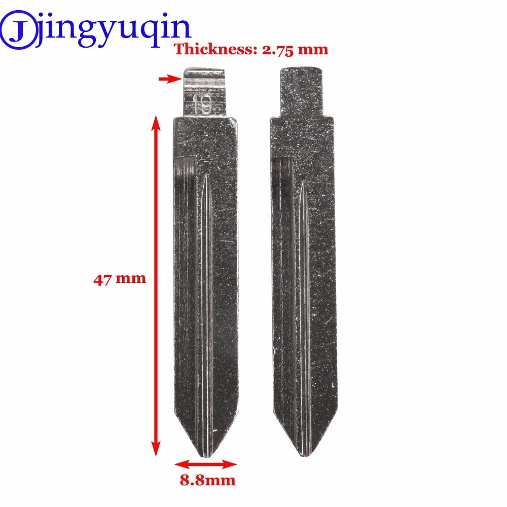 jingyuqin Uncut Blade Car Replacement Remote Blank Flid Folding Key Blank For Ford Mercury Replacement