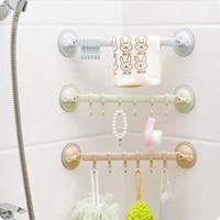 1PC Reglable Serviette Crochets Rack Double Ventouse Porte-Serviettes Suspendu Support Detagere Pour Crochets Ventouse Etagere Pour Cuisine Salle De Bain