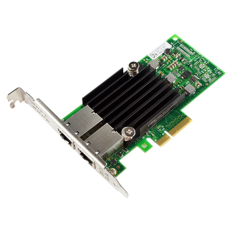 Placa de rede do nic de 10 gb pci-e, para X550-T2 com a microplaqueta de elx550at2, porto duplo do cobre rj45, adaptador de lan do ethernet do pci express supp