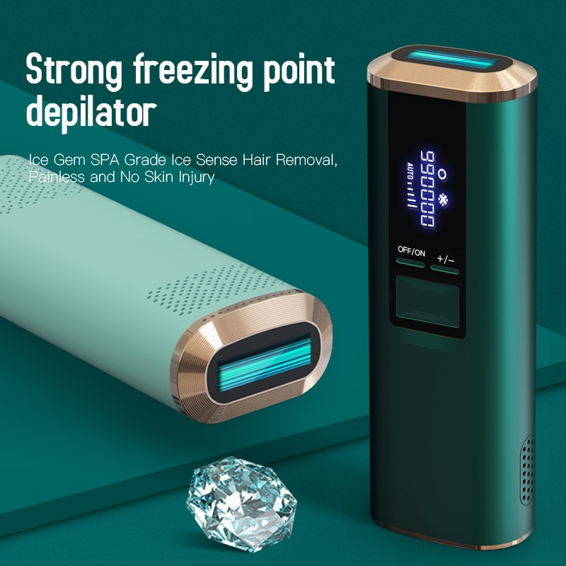 Ice Gem SPA Grade Ice Sense Strong Freezing Point Depilator 990000 Flash Painless Laser Hair Removal enlarge