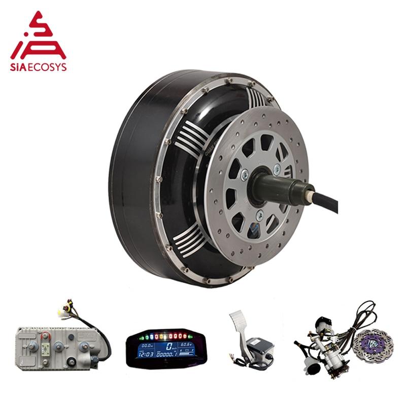 QSMOTOR 6000W 273 45H V3 BLDC brushless electric car hub motor conversion kits with Kelly 7275H