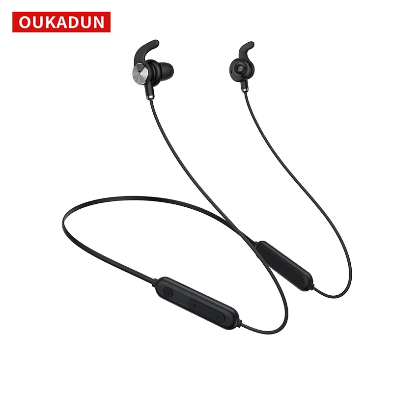 ANC Wireless Sports Bluetooth Headset 5.0 Active Noise Reduction Magnetic Neck-Mounted In-Ear Headset with Microphone
