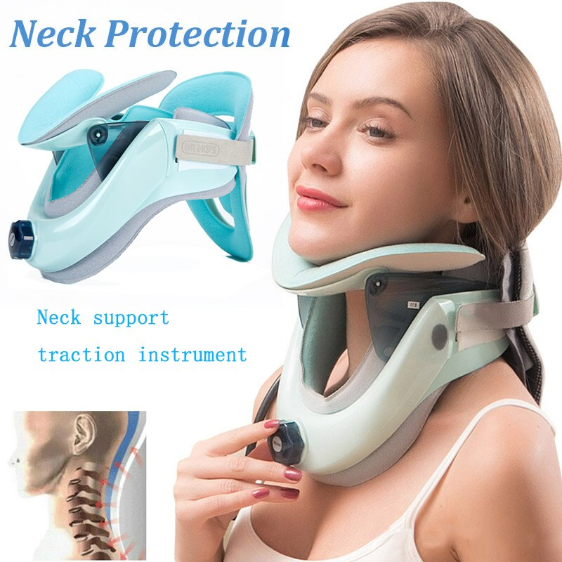 Medical Cervical Traction Device Health Products Cervical Collar Cervical  Neck Braces Health Care Neck Support Neck Massage three layers cervical neck traction apparatus inflatable velvet neck guard portable adjustable neck brace support health care