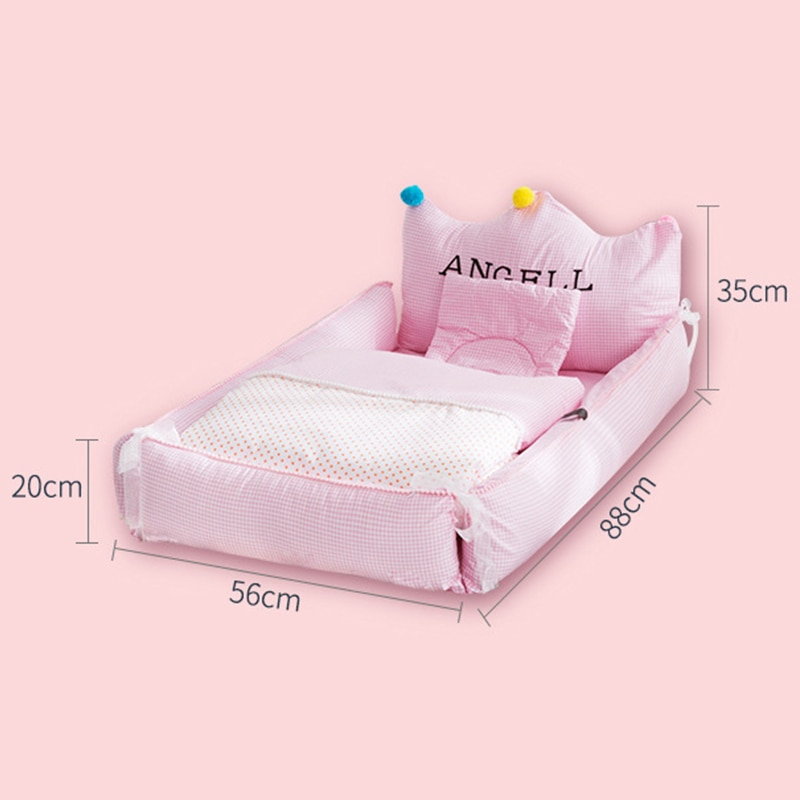 Removable Newborn Bed Baby Cot Nest Bed In Bed Baby Protect Cradle Cushion Bumper Portable Travel Crib For Newborn Babynest enlarge