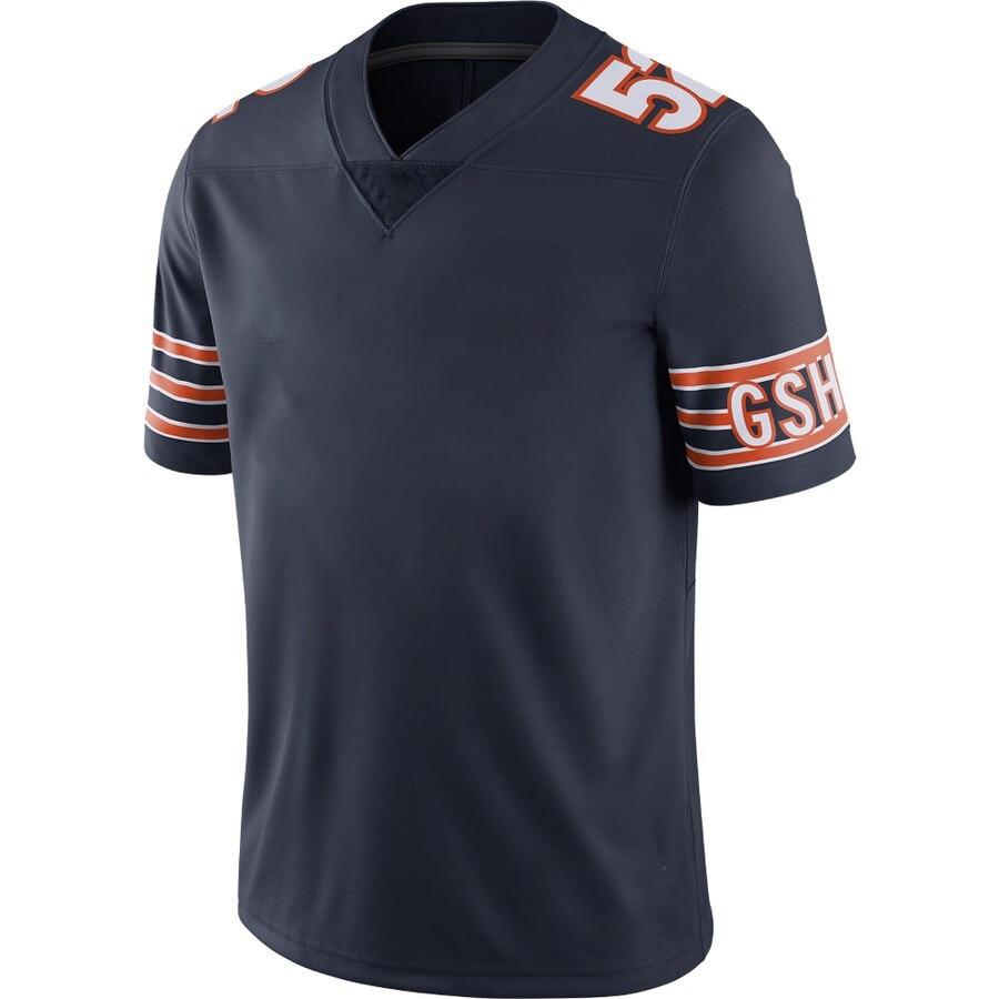 Новинка 2021, футболка для американского футбола, мужские футболки Чикаго, футболки с вышивкой на заказ, футболки для фанатов