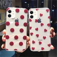 Прозрачный чехол Lovebay для телефона iphone 12 11 Pro XS Max XR X 8 7 6S Plus 5S SE, прозрачный чехол в горошек с сердечками