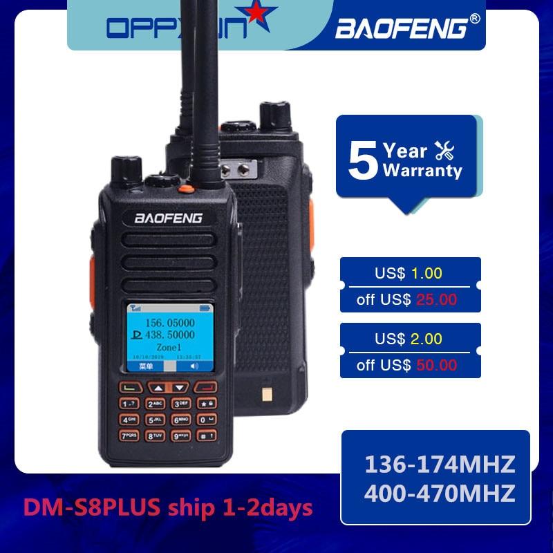 Baofeng Walkie Talkie DMS8Plus VHF UHF Dual Band Digital Analog DMR Repeater Upgrade Professional CB Ham Transceiver 2 Way Radio