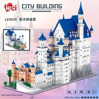 lezi lz8020 miniature diamond small particle architectural model series neuschwanstein castle building blocks childrens toys
