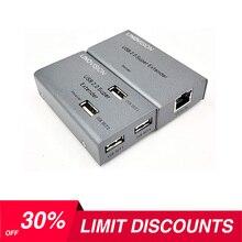 Mini USB extensor Max 200ft sobre Cat5e/6 Cable con 4 salida USB2.0, Max 480Mbps, trabajar con la cámara PTZ Video conferencia USB