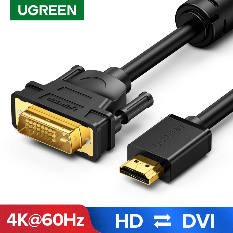 Ugreen-Cable adaptador HDMI compatible con DVI, DVI-D bidireccional 24 + 1 HD...
