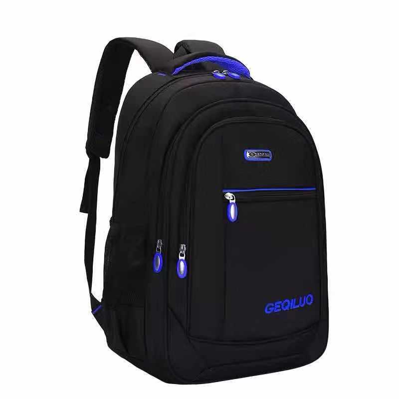 Mochila para adolescentes, mochilas escolares para niños, mochila negra de nailon de 15,6 pulgadas para ordenador portátil, mochila escolar grande para adolescentes, bolso de Estudiante