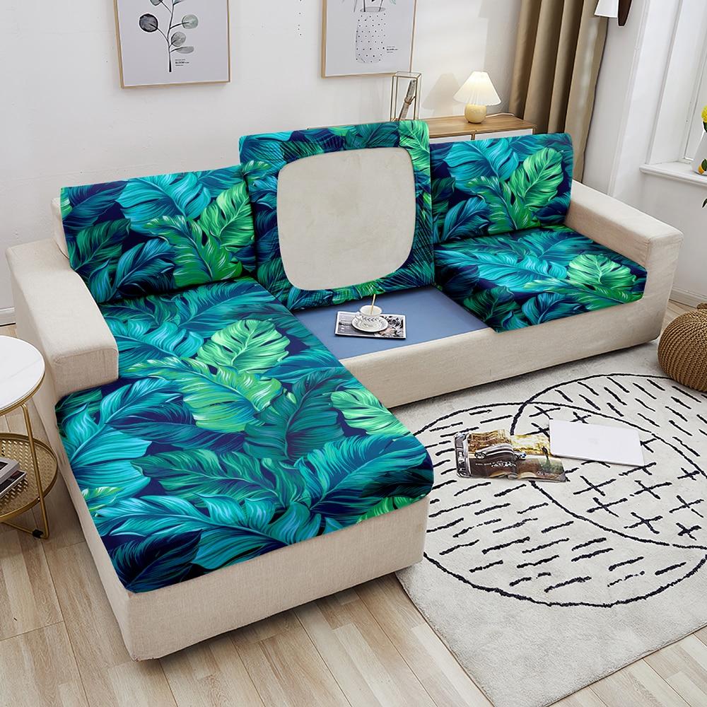 Тропические эластичные Чехлы для дивана в гостиную, чехол для дивана на сиденье, угловой чехол для дивана, чехол для дивана, защитный чехол д... чехол