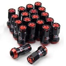 De acero de carreras de tuerca de seguridad para rueda tuercas con clave de seguridad M12x1.5 M12x1.25