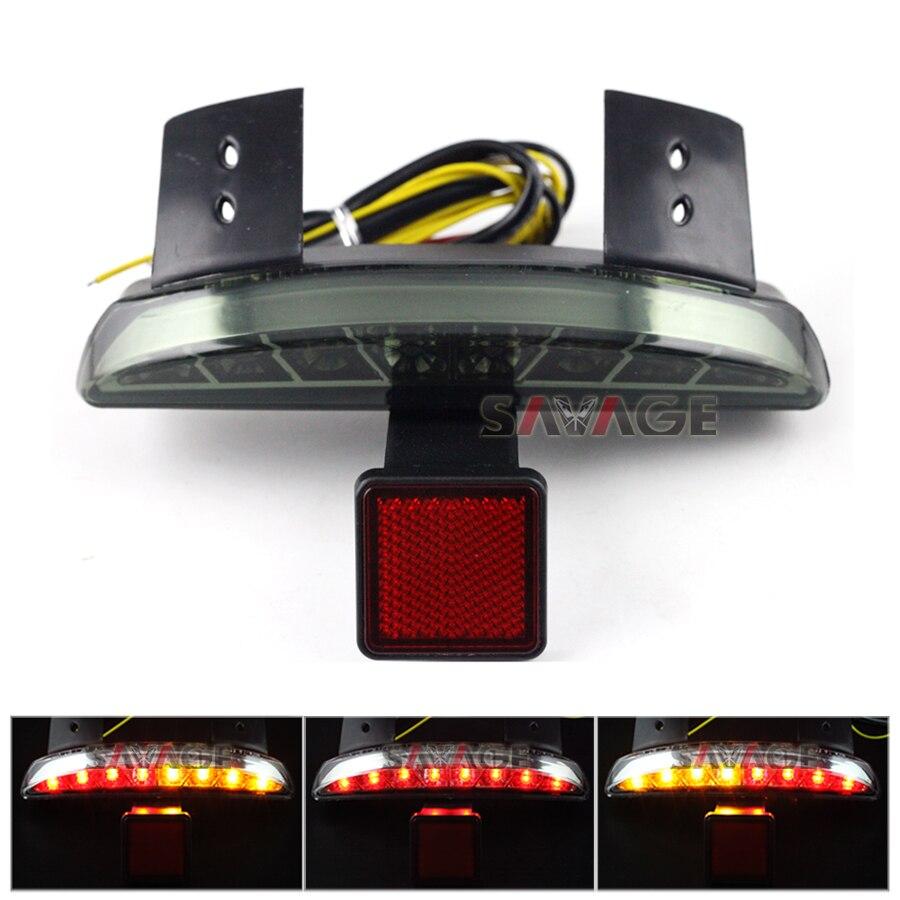 Para Harley Davidson XL1200N 07-11/Hierro XL883N 09-15/Picado X48 14-15 Humo guardabarros Borde Integrado LED Luz de la Cola de señal de Vuelta